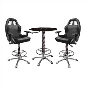 3-Piece Racing Bar Furniture Set