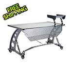 PitStop Furniture GT Spoiler Desk with Privacy Screen