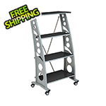Pitstop Furniture Chicane Bookshelf (Carbon Fiber)