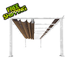 Paragon Outdoor 11 x 16 ft. Verona Aluminum Pergola (White Frame / Cocoa Canopy)