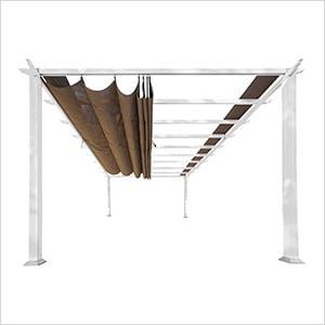 11 x 16 ft. Verona Aluminum Pergola (White Frame / Cocoa Canopy)