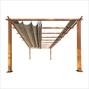 11 x 16 ft. Verona Aluminum Pergola (Canadian Wood / Sand Canopy)