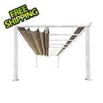 Paragon Outdoor 11 x 16 ft. Verona Aluminum Pergola (White Frame / Sand Canopy)