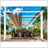 11 x 16 ft. Verona Aluminum Pergola (White Frame / Sand Canopy)