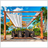 11 x 16 ft. Verona Aluminum Pergola (Canadian Wood / Off White Canopy)