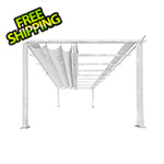 Paragon Outdoor 11 x 16 ft. Verona Aluminum Pergola (White Frame / Off White Canopy)