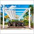 11 x 16 ft. Verona Aluminum Pergola (White Frame / Off White Canopy)