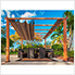 11 x 11 ft. Florence Pergola (Canadian Wood / Sand Canopy)