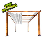 Paragon Outdoor 11 x 11 ft. Florence Pergola (Canadian Wood / Off White Canopy)