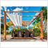 11 x 11 ft. Florence Pergola (Canadian Wood / Off White Canopy)