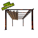 Paragon Outdoor 11 x 11 ft. Florence Pergola (Chilean Wood / Cocoa Canopy)