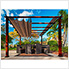 11 x 11 ft. Florence Pergola (Chilean Wood / Cocoa Canopy)