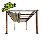 Paragon Outdoor 11 x 11 ft. Florence Pergola (Chilean Wood / Sand Canopy)
