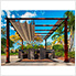11 x 11 ft. Florence Pergola (Chilean Wood / Sand Canopy)