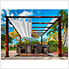 11 x 11 ft. Florence Pergola (Chilean Wood / Off White Canopy)