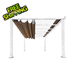 Paragon Outdoor 11 x 11 ft. Florence Pergola (White Frame / Cocoa Canopy)
