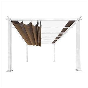 11 x 11 ft. Florence Pergola (White Frame / Cocoa Canopy)