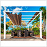 11 x 11 ft. Florence Pergola (White Frame / Cocoa Canopy)