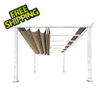 Paragon Outdoor 11 x 11 ft. Florence Pergola (White Frame / Sand Canopy)