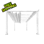 Paragon Outdoor 11 x 11 ft. Florence Aluminum Pergola (White Frame / Off White Canopy)