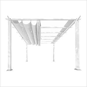 11 x 11 ft. Florence Pergola (White Frame / Off White Canopy)