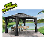 Paragon Outdoor 11 x 13 ft. Santa Monica Aluminum Gazebo with Mosquito Netting