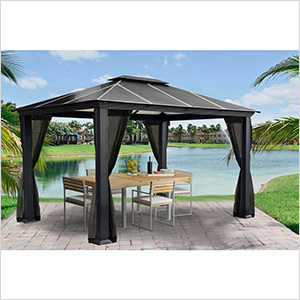 11 x 13 ft. Santa Monica Aluminum Gazebo with Mosquito Netting