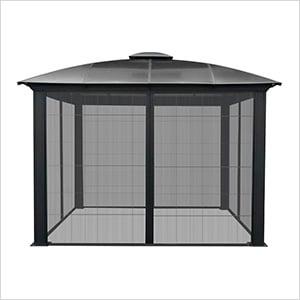 12 x 12 ft. Siena Hard-Top Dome Gazebo with Sliding Screen