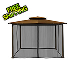 Paragon Outdoor 10 x 12 ft. Santa Fe Gazebo with Mosquito Netting (Cocoa Canopy)