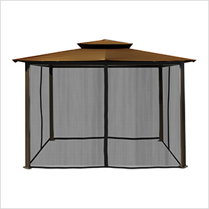 10 x 12 ft. Santa Fe Gazebo with Mosquito Netting (Cocoa Canopy)