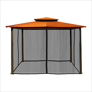 10 x 12 ft. Santa Fe Gazebo with Mosquito Netting (Rust Canopy)
