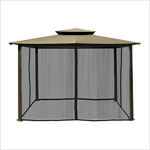10 x 12 ft. Santa Fe Gazebo with Mosquito Netting (Sand Canopy)