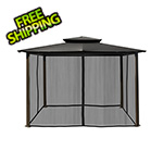 Paragon Outdoor 10 x 12 ft. Santa Fe Gazebo with Mosquito Netting (Grey Canopy)