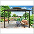 10 x 12 ft. Santa Fe Gazebo with Mosquito Netting (Grey Canopy)