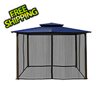 Paragon Outdoor 10 x 12 ft. Santa Fe Gazebo with Mosquito Netting (Navy Canopy)
