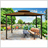 10 x 12 ft. Santa Fe Gazebo with Mosquito Netting and Privacy Panels (Cocoa Canopy)
