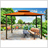 10 x 12 ft. Santa Fe Gazebo with Mosquito Netting and Privacy Panels (Rust Canopy)