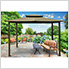 10 x 12 ft. Santa Fe Gazebo with Mosquito Netting and Privacy Panels (Sand Canopy)