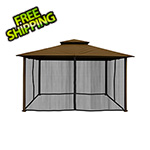 Paragon Outdoor 11 x 14 ft. Barcelona Gazebo with Mosquito Netting (Cocoa Canopy)