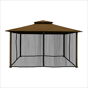 11 x 14 ft. Barcelona Gazebo with Mosquito Netting (Cocoa Canopy)