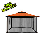 Paragon Outdoor 11 x 14 ft. Barcelona Gazebo with Mosquito Netting (Rust Canopy)