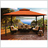 11 x 14 ft. Barcelona Gazebo with Mosquito Netting (Rust Canopy)