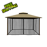 Paragon Outdoor 11 x 14 ft. Barcelona Gazebo with Mosquito Netting (Sand Canopy)