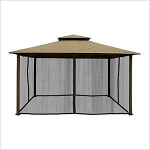 11 x 14 ft. Barcelona Gazebo with Mosquito Netting (Sand Canopy)
