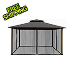 Paragon Outdoor 11 x 14 ft. Barcelona Gazebo with Mosquito Netting (Grey Canopy)