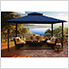 11 x 14 ft. Barcelona Gazebo with Mosquito Netting (Navy Canopy)