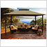 11 x 14 ft. Barcelona Gazebo with Mosquito Netting and Privacy Panels (Sand Canopy)