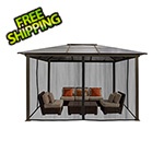 Paragon Outdoor 10 x 13 ft. Madrid Hard Top Gazebo with Mosquito Netting