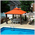 12 x 12 ft. Seville Gazebo with Sunbrella Canopy, Mosquito Netting and Privacy Panels