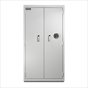 Double Door Pharmacy Safe (White)